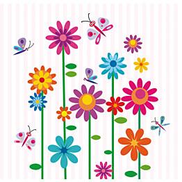 Kuvatapetti Perhoset kukkakarnevaalissa 485009 279x270 cm 6 paneelia