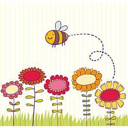 Kuvatapetti Pieni hunajankerääjä 485014 279x270 cm 6 paneelia