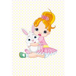 Kuvatapetti Pikku-ballerinan pupukaveri 485022 186x270 cm 4 paneelia