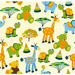 Kuvatapetti Savannin eläinystävät 485075 279x270 cm 6 paneelia
