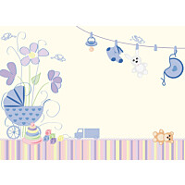 Kuvatapetti Vaaleansiniset vauvaunelmat 485017 372x270 cm 8 paneelia