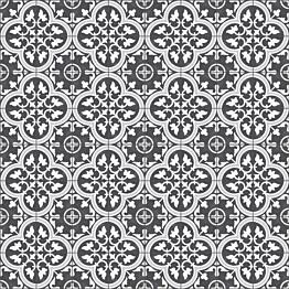 Kuviolaatta Kymppi-Lattiat History Jugend Edinburgh Black himmeä 250x250 mm