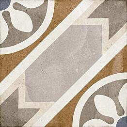 Kuviolaatta Pukkila Art Nouveau Apollo Colour himmeä sileä 200x200 mm