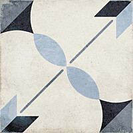 Kuviolaatta Pukkila Art Nouveau Arcade Blue himmeä sileä 200x200 mm