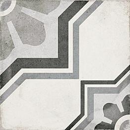 Kuviolaatta Pukkila Art Nouveau Capitol Grey himmeä sileä 200x200 mm
