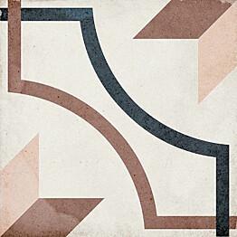 Kuviolaatta Pukkila Art Nouveau Embassy Colour himmeä sileä 200x200 mm