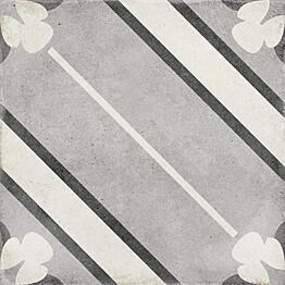 Kuviolaatta Pukkila Art Nouveau Inspire Grey himmeä sileä 200x200 mm