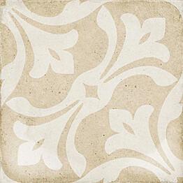 Kuviolaatta Pukkila Art Nouveau La Rambla Biscuit himmeä sileä 200x200 mm
