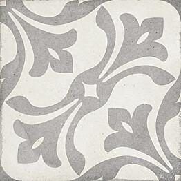 Kuviolaatta Pukkila Art Nouveau La Rambla Grey himmeä sileä 200x200 mm