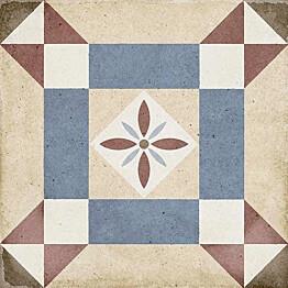 Kuviolaatta Pukkila Art Nouveau Lys Colour himmeä sileä 200x200 mm
