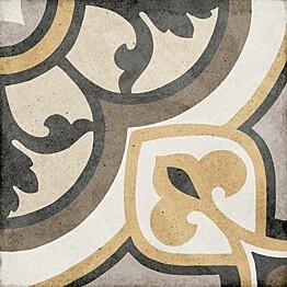 Kuviolaatta Pukkila Art Nouveau Majestic Colour himmeä sileä 200x200 mm