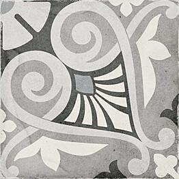 Kuviolaatta Pukkila Art Nouveau Opera Grey himmeä sileä 200x200 mm