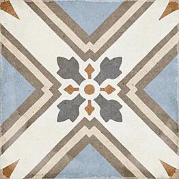 Kuviolaatta Pukkila Art Nouveau Turin Colour himmeä sileä 200x200 mm