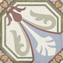 Kuviolaatta Pukkila Art Nouveau Viena Colour himmeä sileä 200x200 mm