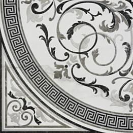 Kuviolaatta Pukkila Marble Boutique Rosone Freddo kiiltävä sileä 1190x1190 mm