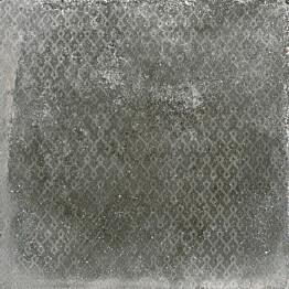 Kuviolaatta Pukkila Reden Dark Grey himmeä sileä 598x598 mm