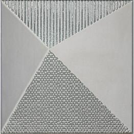 Kuviolaatta Pukkila Shapes Kioto Silver himmeä sileä 250x250 mm
