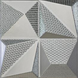Kuviolaatta Pukkila Shapes Multishapes Silver himmeä sileä 250x250 mm