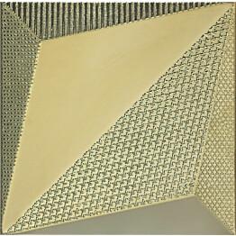 Kuviolaatta Pukkila Shapes Origami Gold himmeä sileä 250x250 mm