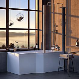 Kylpyamme Nordhem Apelviken Standard 1575x845x590 mm valkoinen oikea
