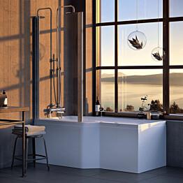 Kylpyamme Nordhem Apelviken Standard 1575x845x590 mm valkoinen vasen