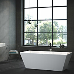 Kylpyamme Nordhem Dalarö Lucite 1800x800x600 mm vapaasti seisova valkoinen