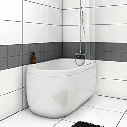 Kylpyamme Nordhem Djupvik Nordurit 1500x800x620 mm valkoinen oikea