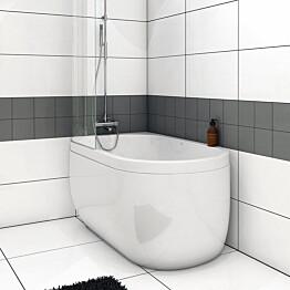 Kylpyamme Nordhem Djupvik Standard 1500x800x620 mm valkoinen vasen