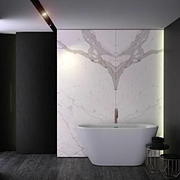 Kylpyamme Nordhem Lilleby Lucite 1550x750x600 mm vapaasti seisova valkoinen