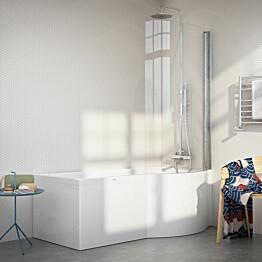 Kylpyamme Nordhem Solvik Standard 1500x900x590 mm valkoinen oikea