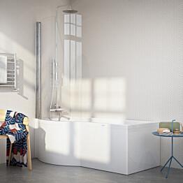 Kylpyamme Nordhem Solvik Standard 1500x900x590 mm valkoinen vasen