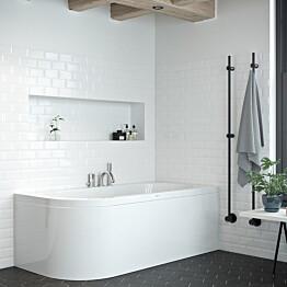 Kylpyamme Nordhem Torekov Standard 1600x725x590 mm valkoinen oikea