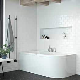 Kylpyamme Nordhem Torekov Standard 1600x725x590 mm valkoinen vasen