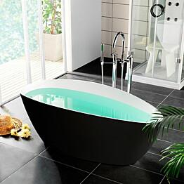 Kylpyamme Westerbergs Ellipse 1570 260l musta/valkoinen