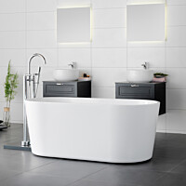 Kylpyamme Westerbergs Stilla 1600 akryyli valkoinen