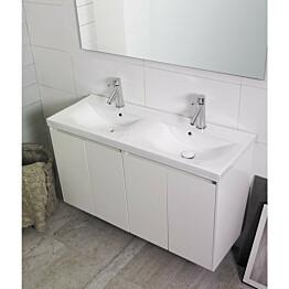 Kylpyhuonekaluste Noro Lifestyle Concept 1200duo pesualtailla ja allaskaapilla korkea