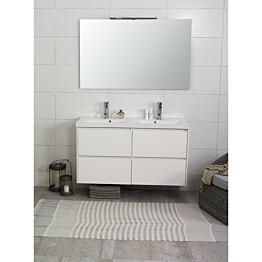 Kylpyhuonekaluste Noro Lifestyle Concept 1200duo pesualtaalla ja laatikostoilla korkea