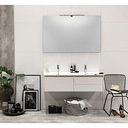 Kylpyhuonekaluste Noro Lifestyle Concept 1200duo pesualtaalla ja laatikostoilla matala