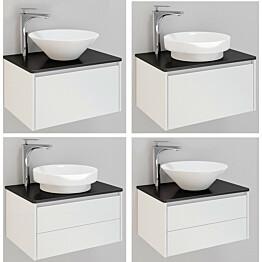 Kylpyhuonekaluste Noro Lifestyle Concept 600 malja-altaalla ja laatikostolla matala