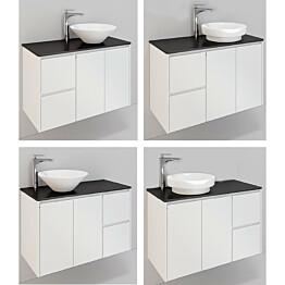 Kylpyhuonekaluste Noro Lifestyle Concept 900 malja-allas + allaskaappi + sivulaatikosto korkea