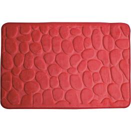 Kylpyhuonematto Pisla Duschy Rimini 60x95 cm punainen
