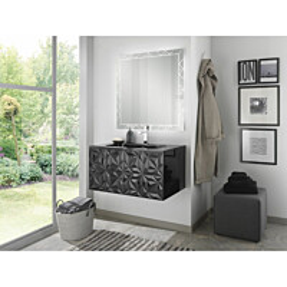 Kylpyhuoneryhmä Mimo Furniture Diamante 800 allaskaappi + peili musta