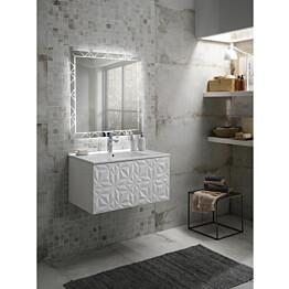 Kylpyhuoneryhmä Mimo Furniture Diamante 800 allaskaappi + peili valkoinen