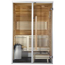 Kylpyhuonesauna Harvia Sirius Futura 1400x1240mm eri materiaaleja lämpökäsitelty panelointi