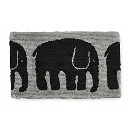 Kylpymatto Finlayson Elefantti 50x80 cm musta/harmaa