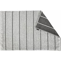 Kylpymatto Jokipiin Pellava Liituraita, 75x50cm, tummanharmaa/valkoinen