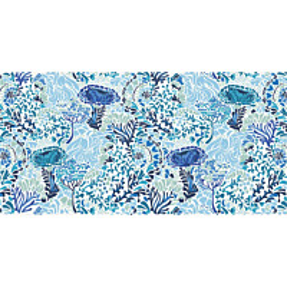 Kylpypyyhe Vallila Napolinlahti 70x140cm sininen/valkoinen