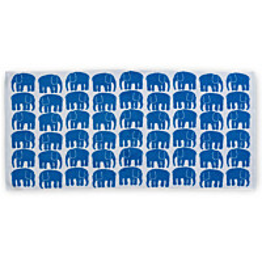 Kylpypyyhe Finlayson Elefantti 70x150 cm sininen/valkoinen
