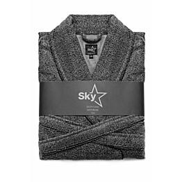 Kylpytakki Sky Snow Print, eri kokoja, tummanharmaa/musta