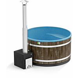 Kylpytynnyri Kirami Comfort Family L Cube 6-8 hlöä 2200 l CoalBlack/OceanBlue